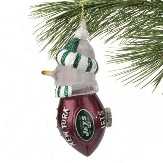 New York Jets All-star Light-up Snowman Ornament