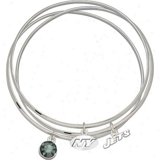 New York Jets Bangle Bracelet Set