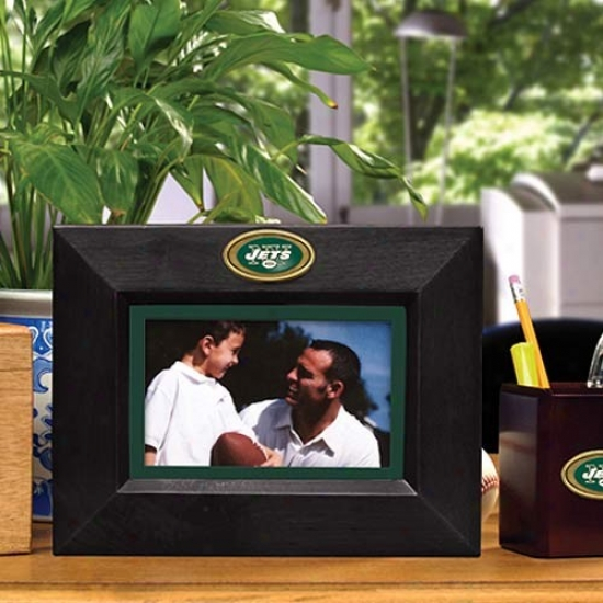 New York Jets Black Wooden Landscape Picture Frame