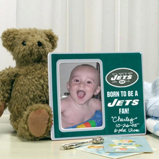 New York Jets Born To Be A Jets Fan Picture Frame