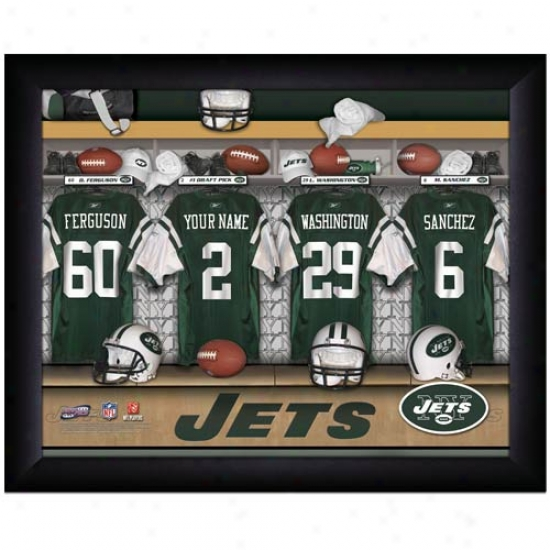 New York Jets Customized Locker Space Black Framed Photo