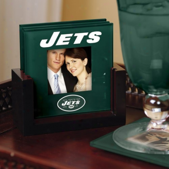 Recent York Jets Green 4-pack Photo Coaster Set