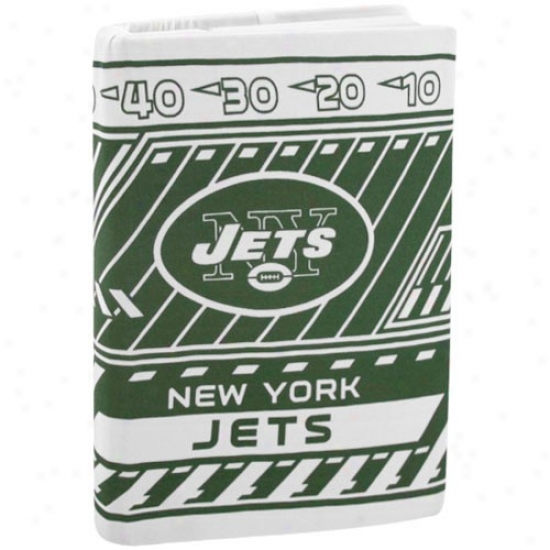 New York Jets Green-white Stretchable Book Cover