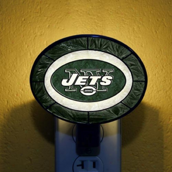 New York Jet sHand-painted Glass Nightlight
