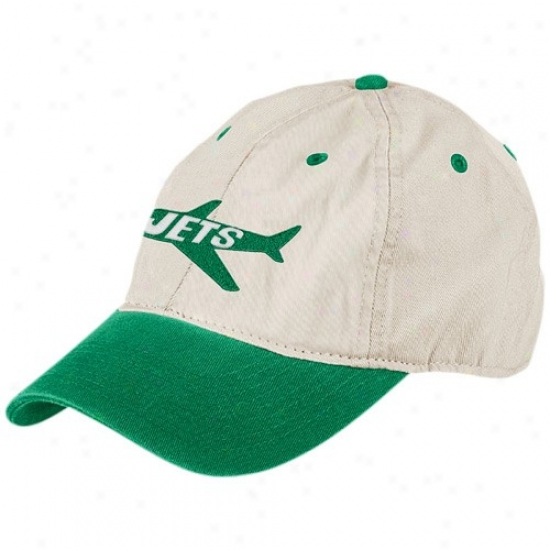New York Jets Hat : Reebok New York Jets Natural Garm3nt Washed Throwback Logo Relaxed Adjustable Cardinal's office