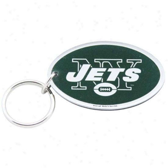New York Jets Oppressive Dsfinition Logo Keychain