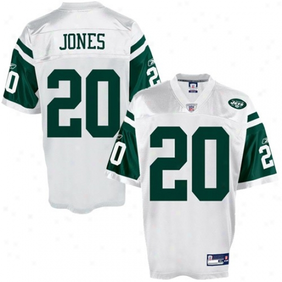 New York Jets Jerseys : Reebok New York Jets #20 Thomas Jones White White Replica Football Jerseys