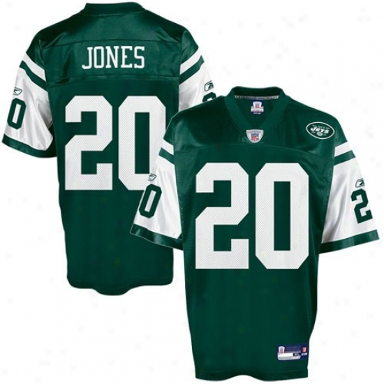 New York Jets Jerseys : Reebok New York Jets #20 Thomas Jones Green Replica Football Jerseys