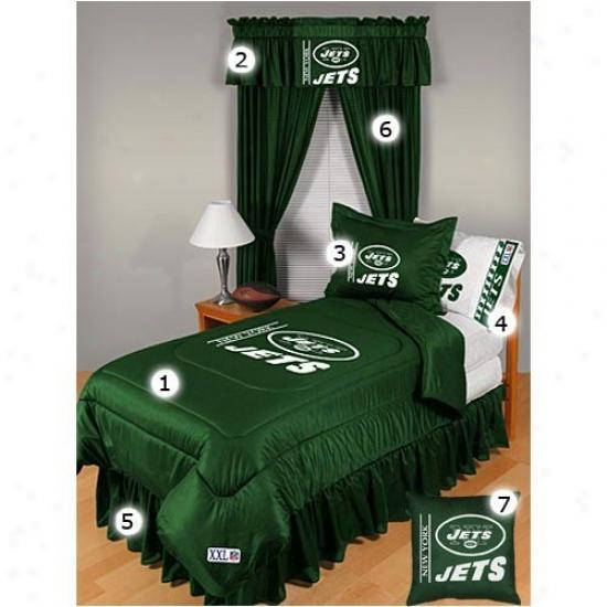 New York Jets Queen Size Locker Room Bedroom Flow