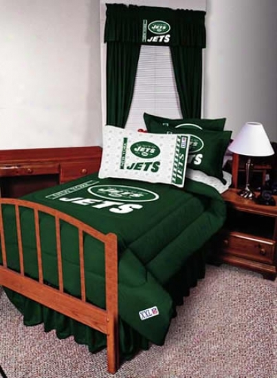 New York Jets Queen Size Sheet Seg
