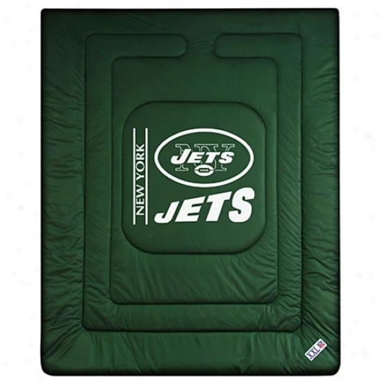 New York Jets Queen/full Sjze Locker Room Comforter