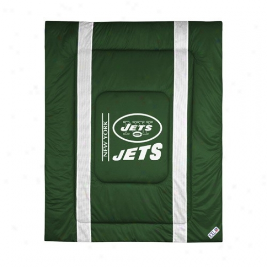 Starting a~ York Jets Queen/full Size Sideline Comforter