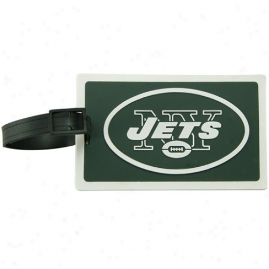 New York Jets Rubber Luggage Tag