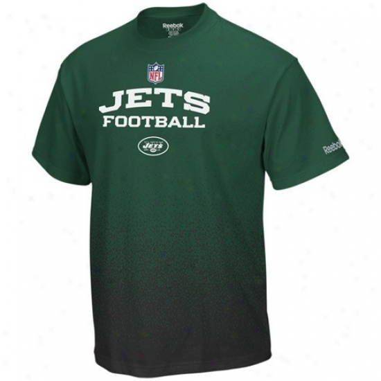 New York Jets Shirts : Reebok Nwe York Jets Youth Green Drift Sidelinr Shirts