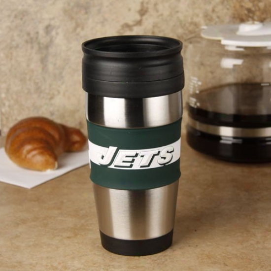 New York Jets Steel & Pvc Travel Tumbler
