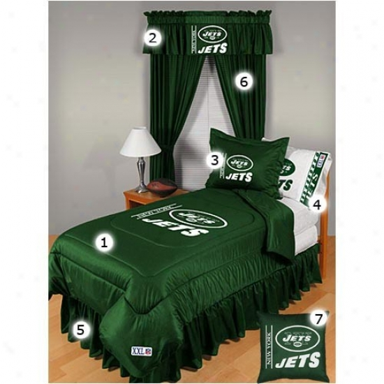 New York Jets Twin Sizing Locker Room Bedroom Set