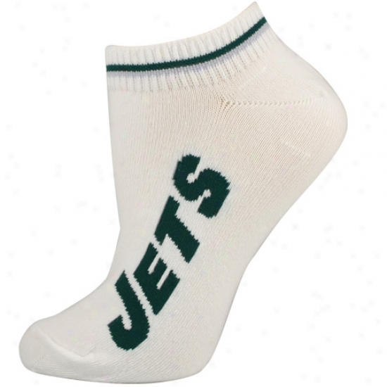 Novel York Jets White Ladies (529) 9-11 Ankle Socks