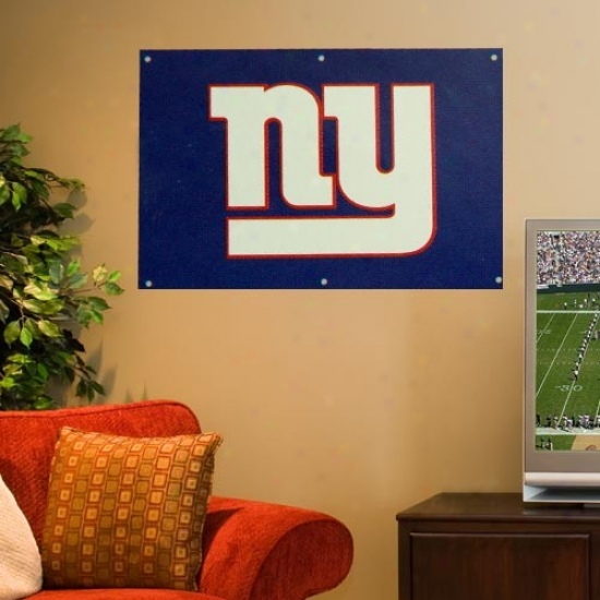 Ny Giant Banners : Ny Giant 2' X 3' Royal Blue Applique Logo Use a ~ upon Banners