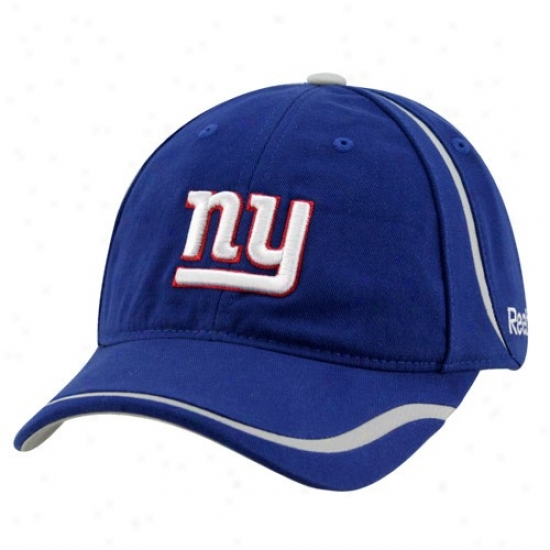 Ny Giant Acme : Reebok Ny Giant Royal Blue Coaches Lubber Adjustable Cap