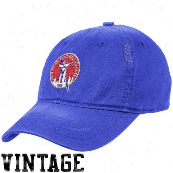 Ny Giant Cap : Reebok Ny Giant Royal Blue Heat Flex Fit Vijtage Cap