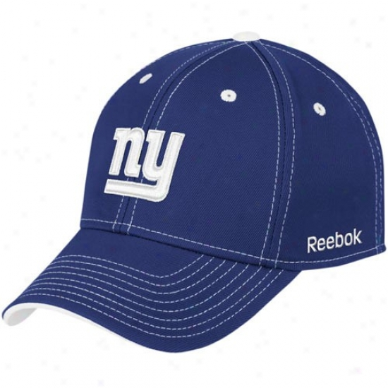 Ny Giant Head-cover : R3ebok Ny Giant Royal Blue Structured Flex Cap