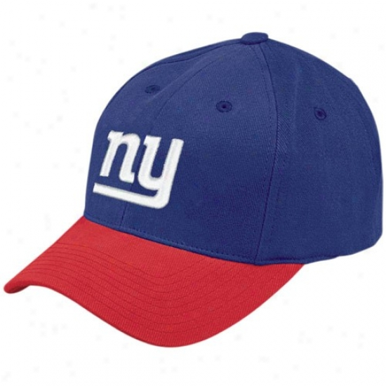 Ny Gianf Cap : Reebok Ny Giant Royal Blue Youth Basic Cap