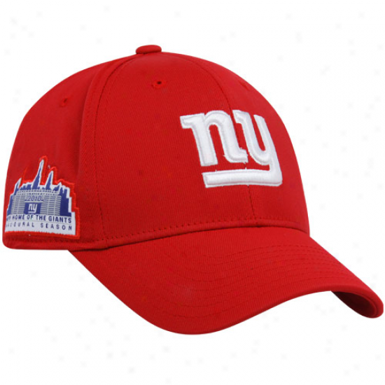 Ny Giant Gear: Reebok Ny Giant Red Inaugural Season Flex Fit Hat