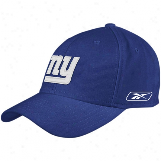 Ny Giant Hats : Reebok Ny Giant Magnificent Blue Coaches Sideline Flex Fit Hats