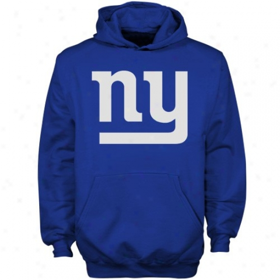 Ny Giant Hooodies : Reebok Ny Giant Youth Royal Blue Primary Logo Hoodies