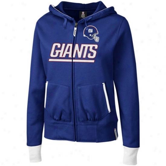 Ny Giant Hoody : Reebok Ny Giant Ladies Royal Blu3 Chant Abundant Zip Hoody