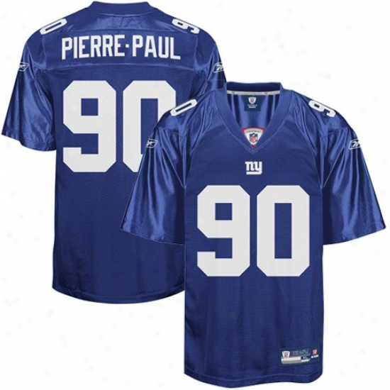 Ny Giant Jersey : Reebok Nfl Equipment Ny Giant #90 Jason Pierre-paul Royal Blue Replica Jersey