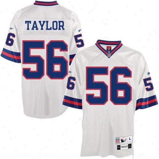 Ny Giant Jerseys : Ny Monster #56 Lawrence Taylor White Tackle Twill Throwback Football Jerseys