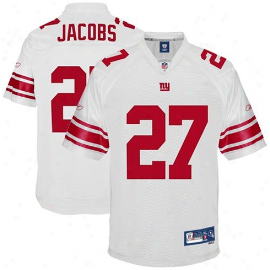 Ny Giant Jerseys : Reebok Brandon Jacobs Nu Giant Youth Premier Tackle Twill Jerseys - White