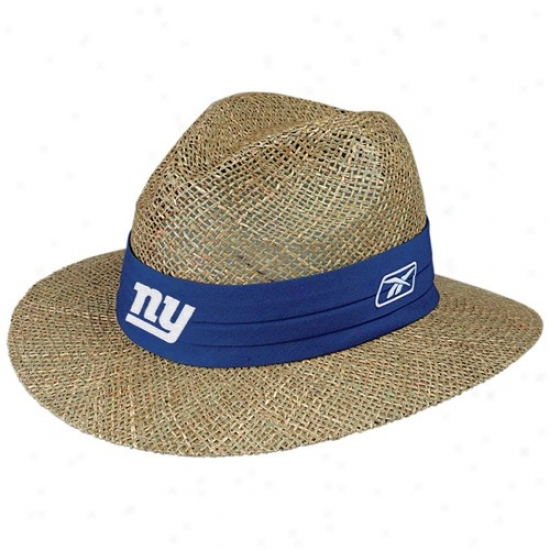 Ny Giant Merchandise: Reebok Ny Giant Camp Straw Hat