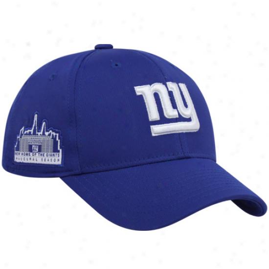 Ny Monster Merchandise: Reebok Ny Giant Royal Azure Inaugural Season Flex Fitt Hat