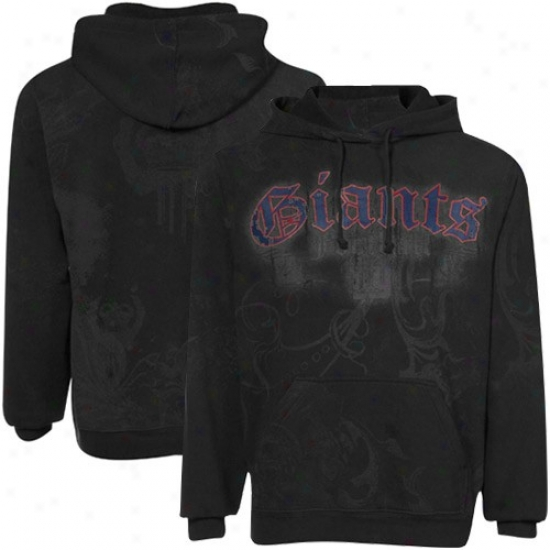 Ny Monster Sweatshirts : Reebok Ny Giant Black All Over Sweatshirts