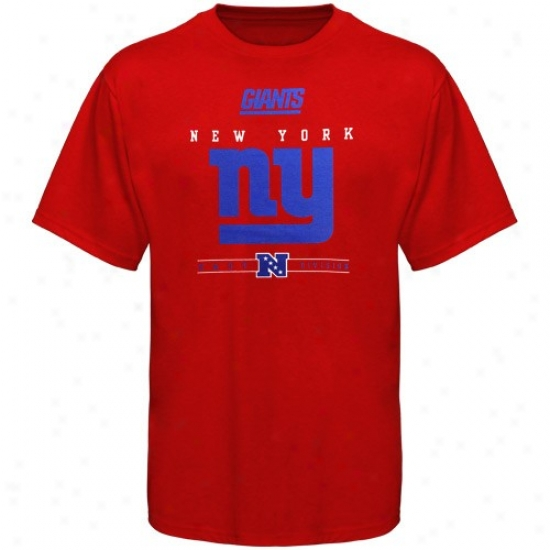Ny Giant T Shirt:  Ny Giant Red Critical Victory Iv T Syirt
