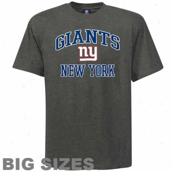 Ny Giant Tees : Ny Giant Charcoal Heart And Soul Big Sizes Tees