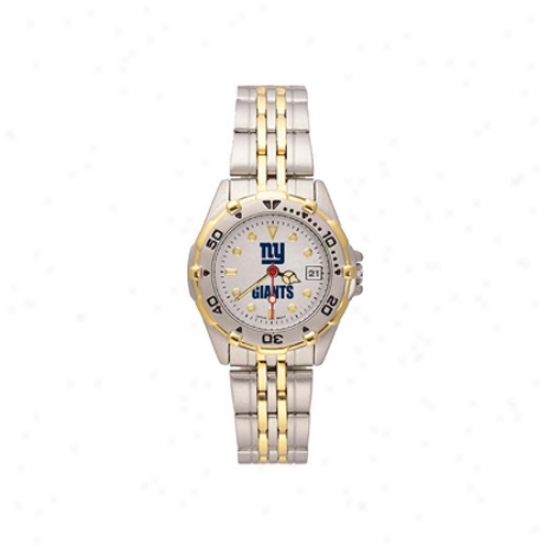 Ny Giant Wrist Watch : Ny Giant Ladies All-star Wrist Watch W/stainless Steel Band