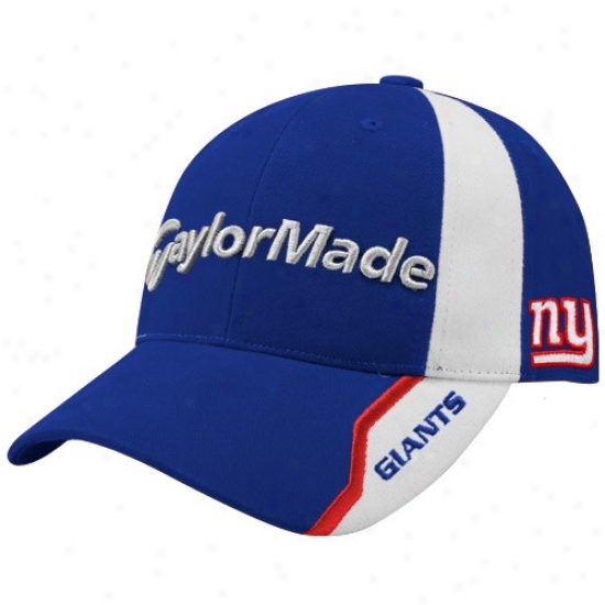 Ny Giants Cap : Taylormade Ny Giants Royal Blue Nfl Golf Adjustable Cap