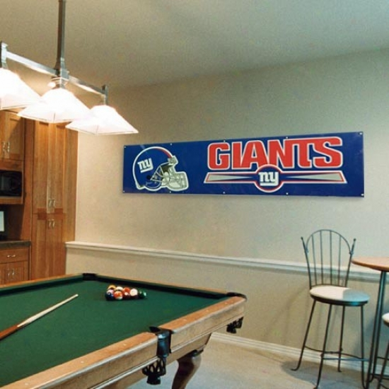 Ny Giants Flags : Ny Giants Royal Blue 8' X 2' Flags