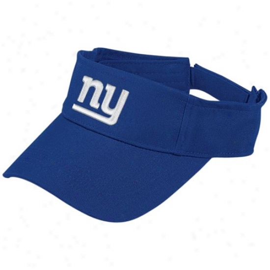 Ny Giants Hats : Reebok yN Giants Royal Blue Original Visor