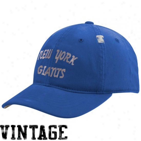 Ny Giants Hats : Reebpk Ny Giants Royal Blue Vintage Flex Slouhc Hats