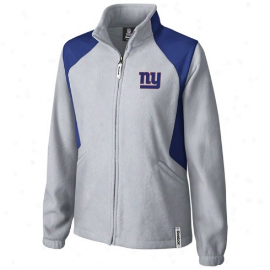 Ny Giants Jacket : Reebok Ny Giants Ladies Gray Rhythm Microfleece Full Zip Jacket