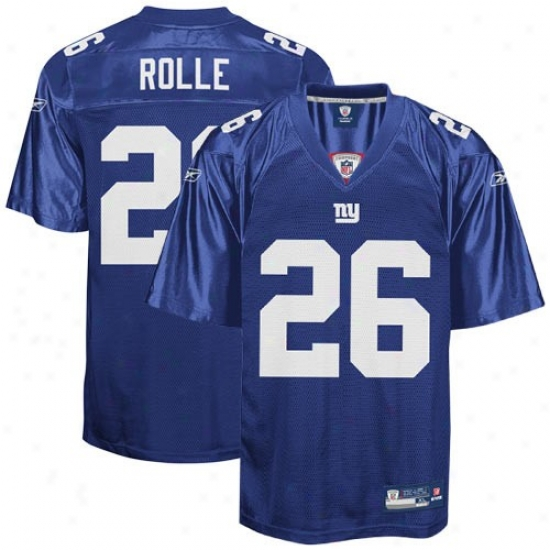 Ny Giants Jersey : Reebok Antrel Rolle Ng Giants Repica Jersey - Royal Blue