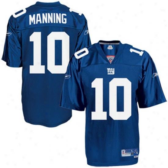 Ny Giants Jersey : Reebok Nfl Equipment Ny Giants #10 Eli Maning Royal Blue Premier Tackle Twill Football Jersey
