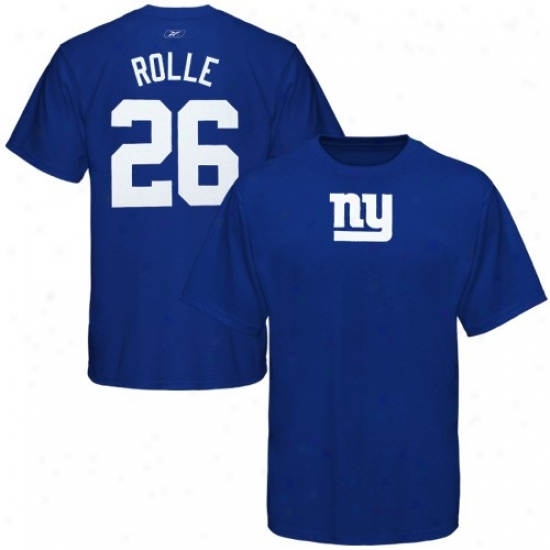 Ny Giants Shirt : Reebok Ny Giants #26 Antrel Rolle Royal Blue Scrimmage Gear Player Shirt