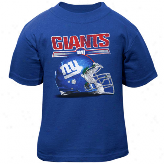 Ny Giants Tshirt : Reebok Ny Giants Toddler Royal Blue Benchmark Helmet Tshirt