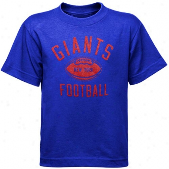 Ny Giants Tshirts : Reebko Ny Giants Royal Blue Preschool Workout Tshirts