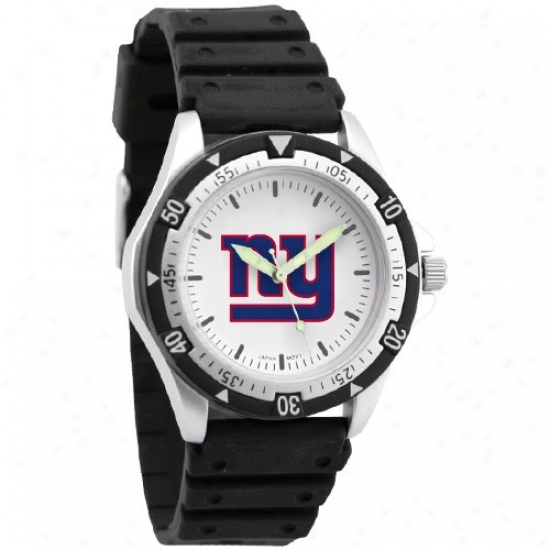 Ny Giants Watch : Ny Giants Men's Black Option Watch